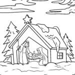 Coloring page Christmas Nativity of Jesus