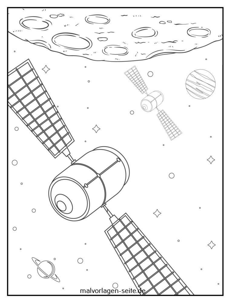 Malvorlage Satelliten
