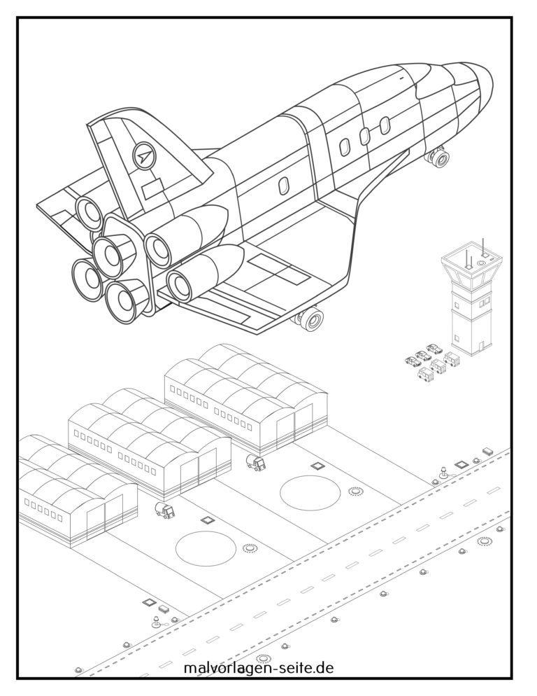 malvorlage raumschiff weltraum  kostenlose ausmalbilder