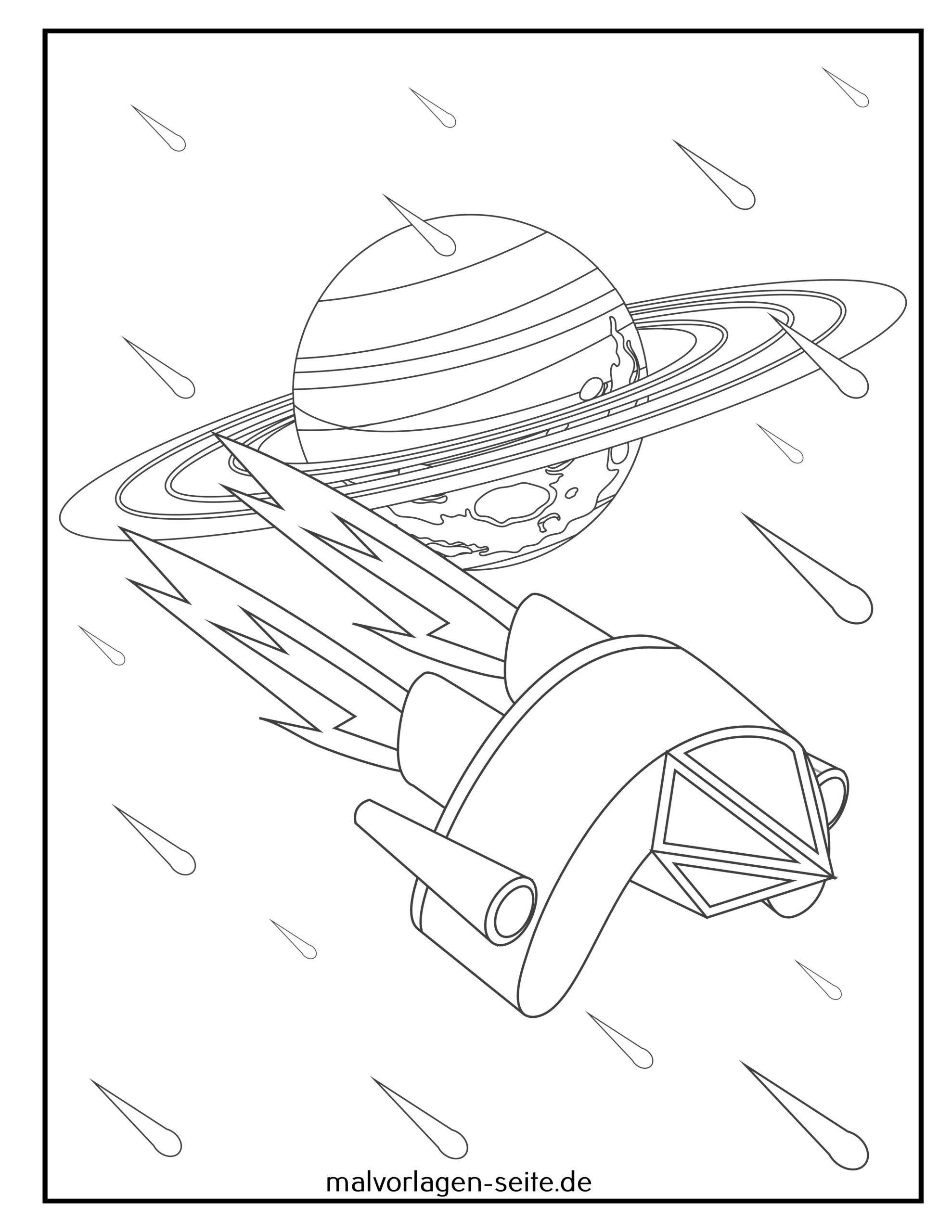Stranica bojanje vanzemaljski svemirski brod