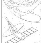 Malvorlage Satellit Weltraum