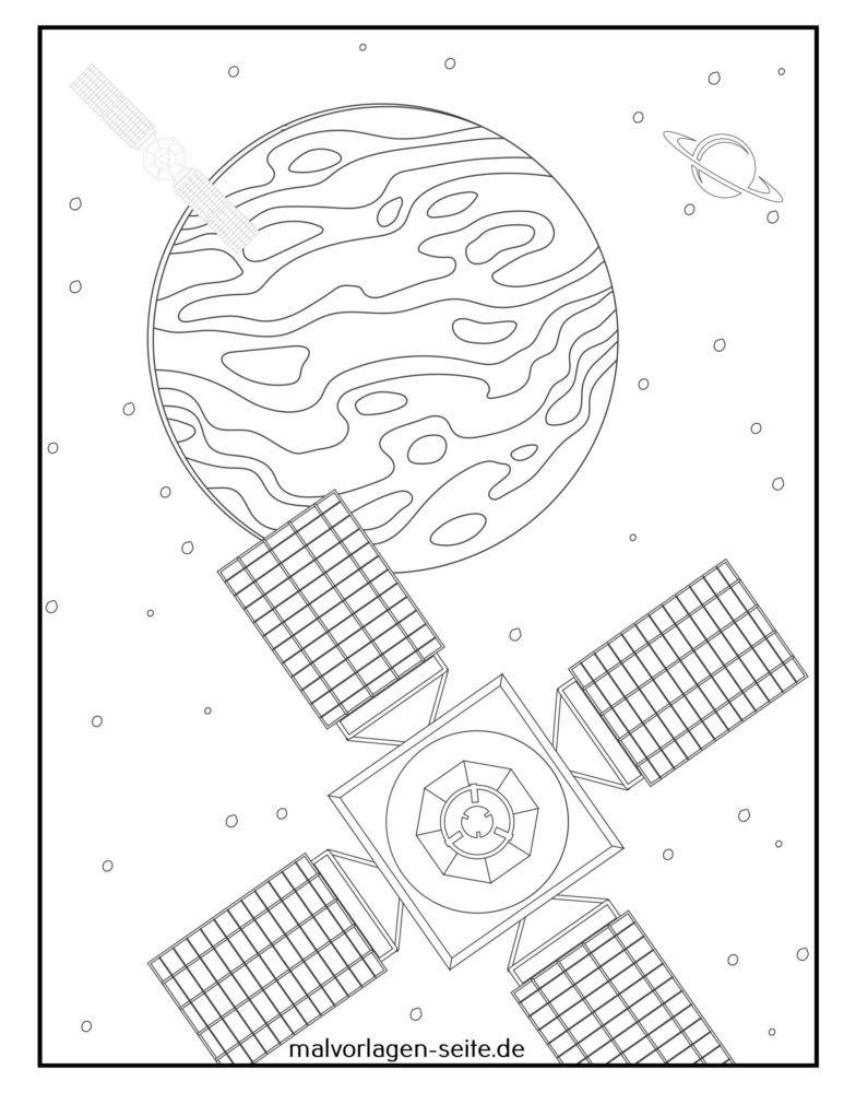 Malvorlage Satellit