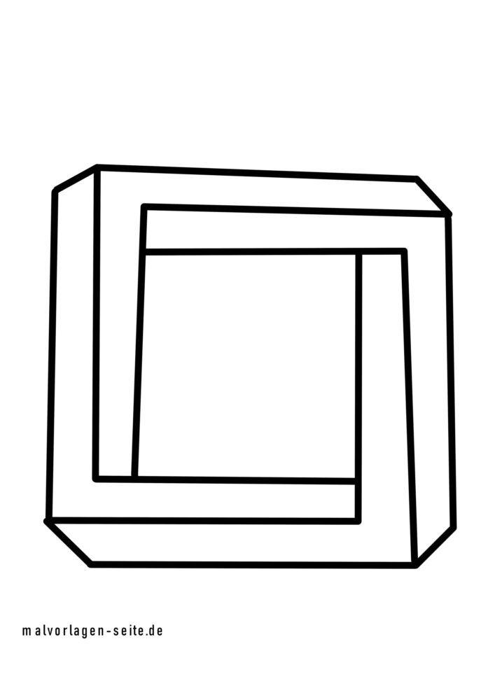 Farvelægning umulig firkant i 3D