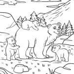Bojanje stranice medvjed | Životinje