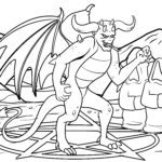 Malvorlage Dämon