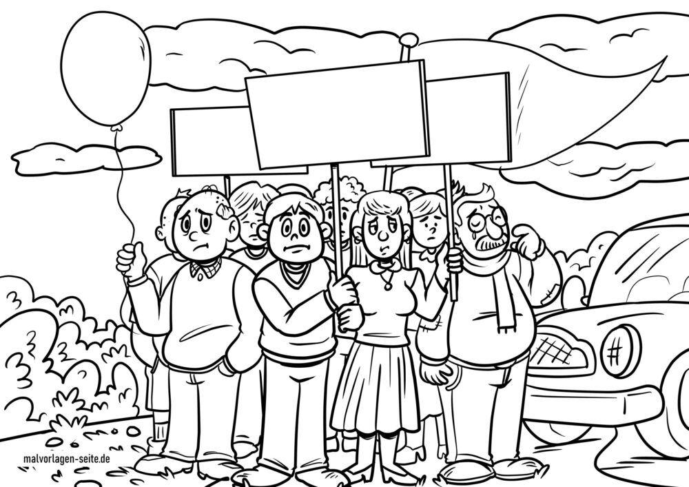 Värvimislehe meeleavaldus / meeleavaldajad