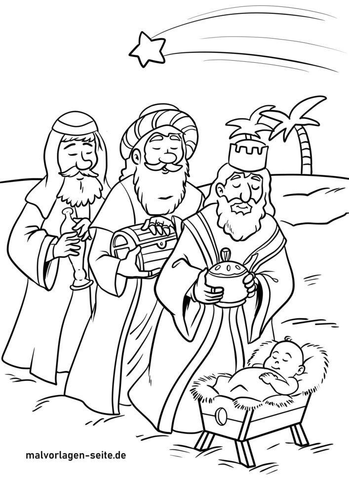 Раскраска трое мудрецов для раскраски
