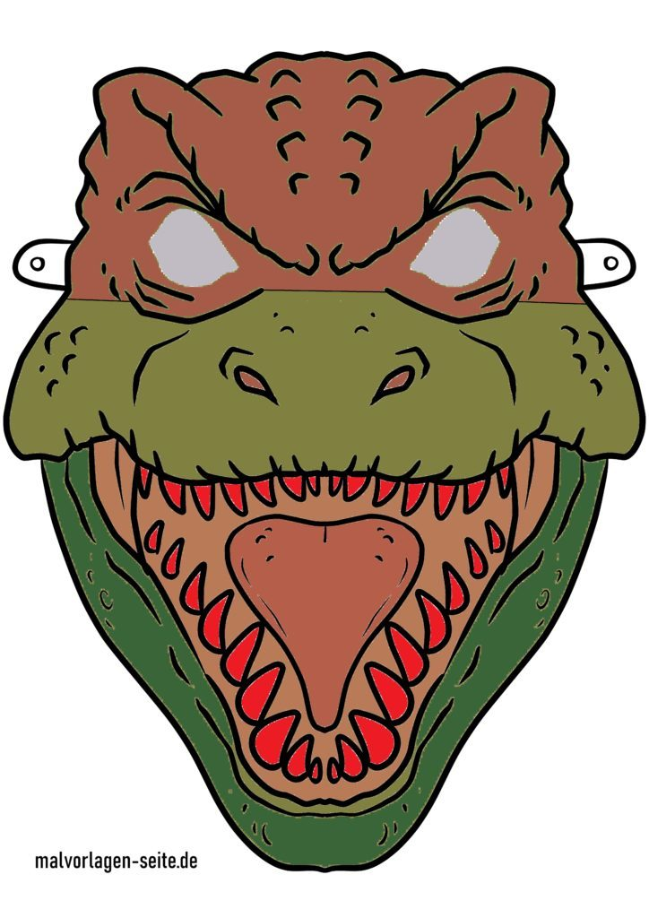 Masque de dinosaure coloré