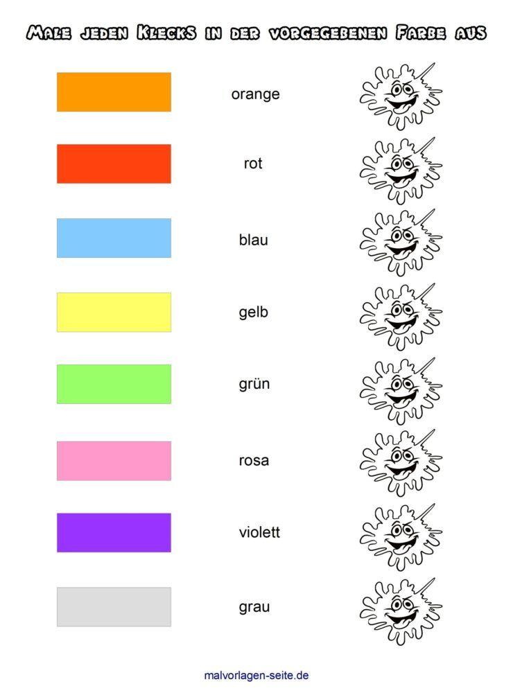 Rozpoznávejte a učte se barvy ze šablony