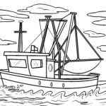 Coloriage chalutier | Navires