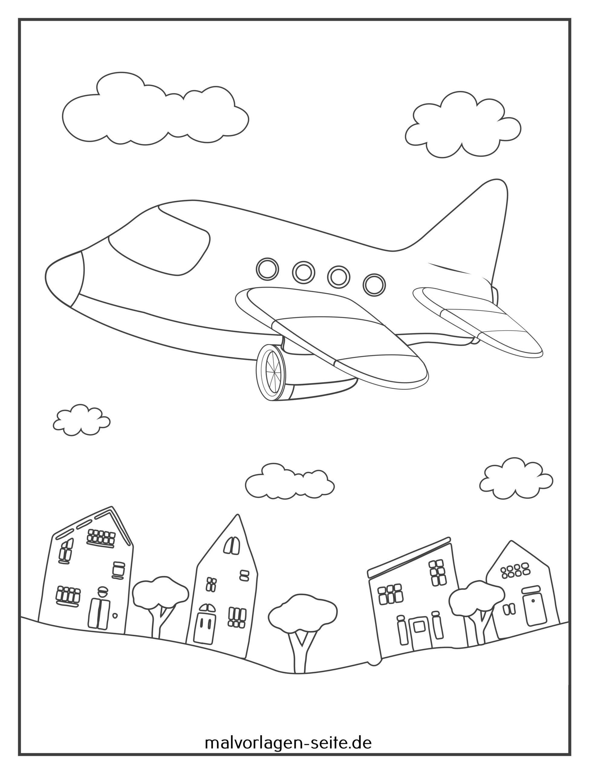 malvorlage flugzeug  kostenlose ausmalbilder
