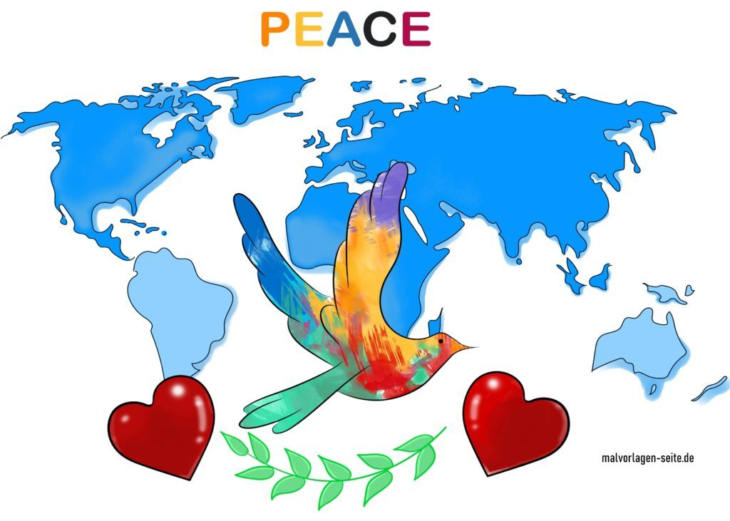Free download template of peace dove