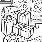 Värityskuva Joululahjat jouluna
