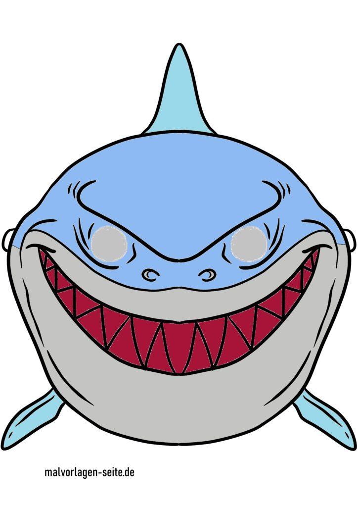 Masque de requin coloré pour enfants