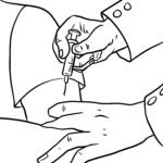 Coloring page vaccination / vaccination | health