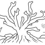 Coloring page coral | Animals in the water