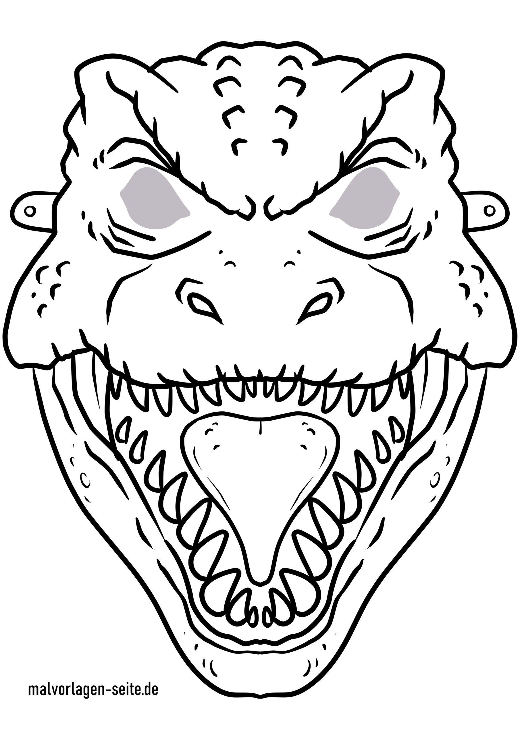 Masque artisanat - modèle de masque dinosaure