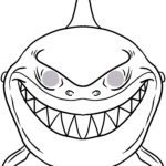 Mask template shark | Make masks
