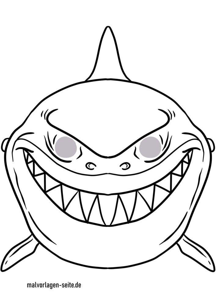 Masque artisanat - modèle de masque requin