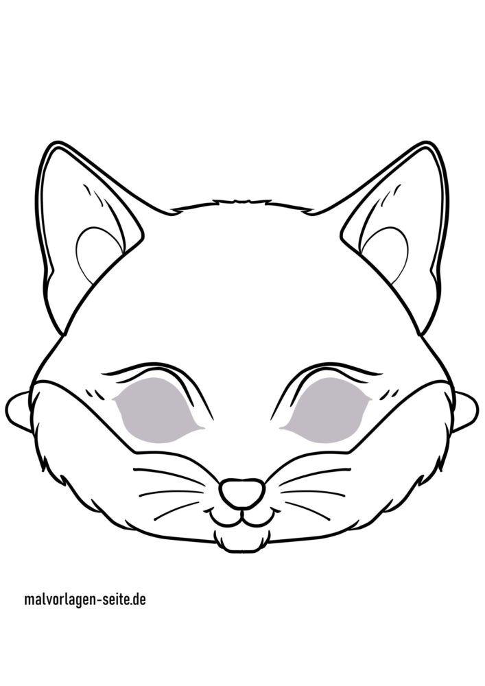 Maskehåndværk - maske skabelon kat