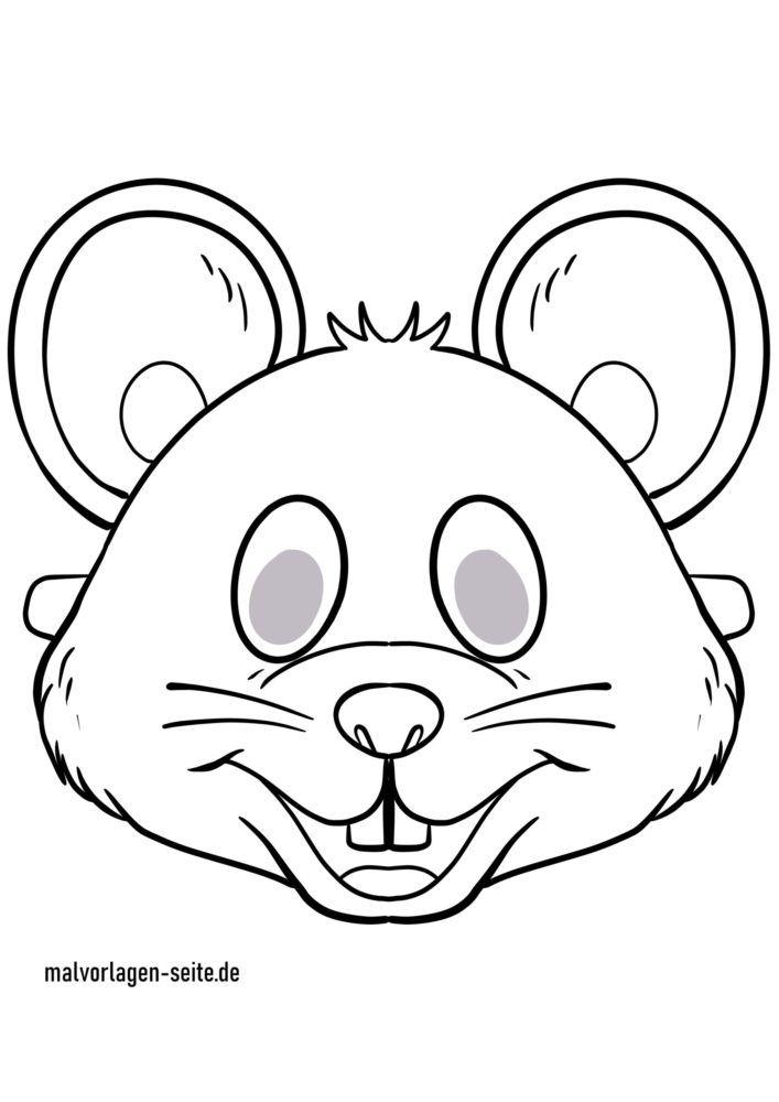 Masque artisanat - modèle de masque souris