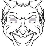 Mask template devil | Make masks