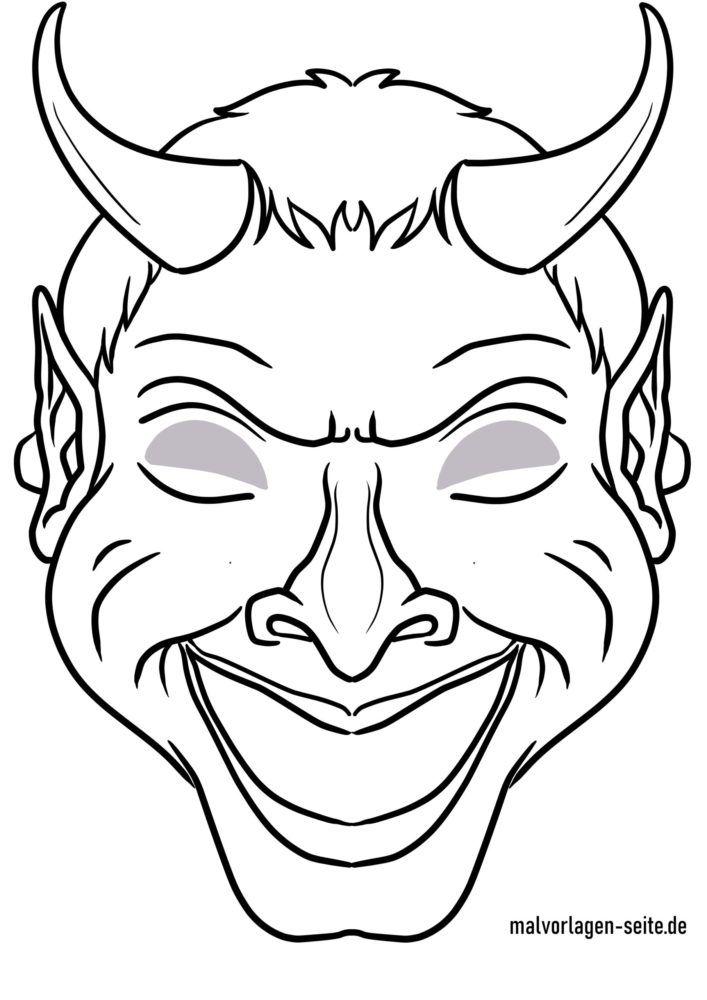 Masque artisanat - masque modèle diable