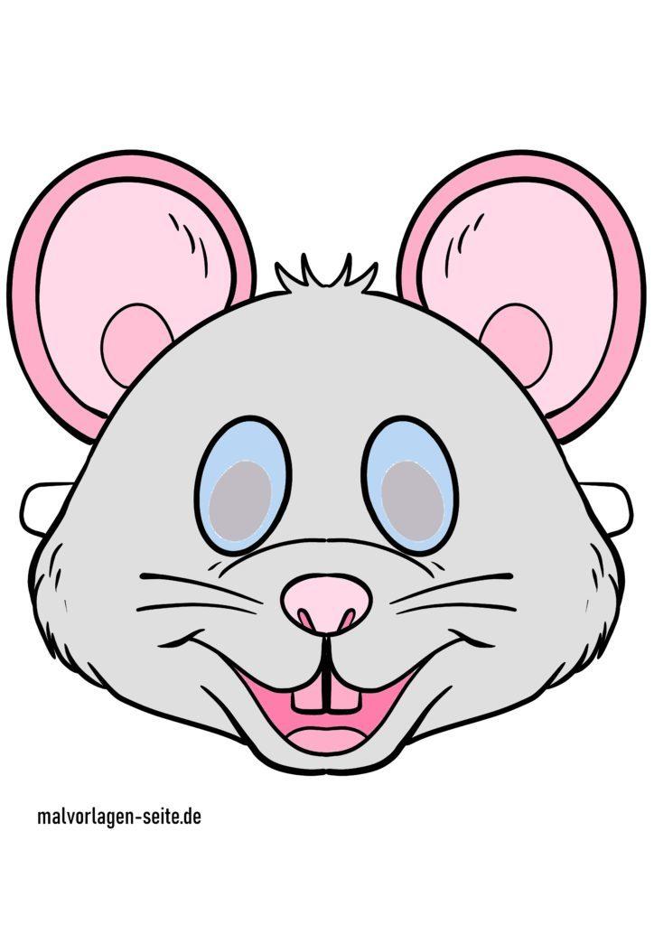 Masque de souris coloré