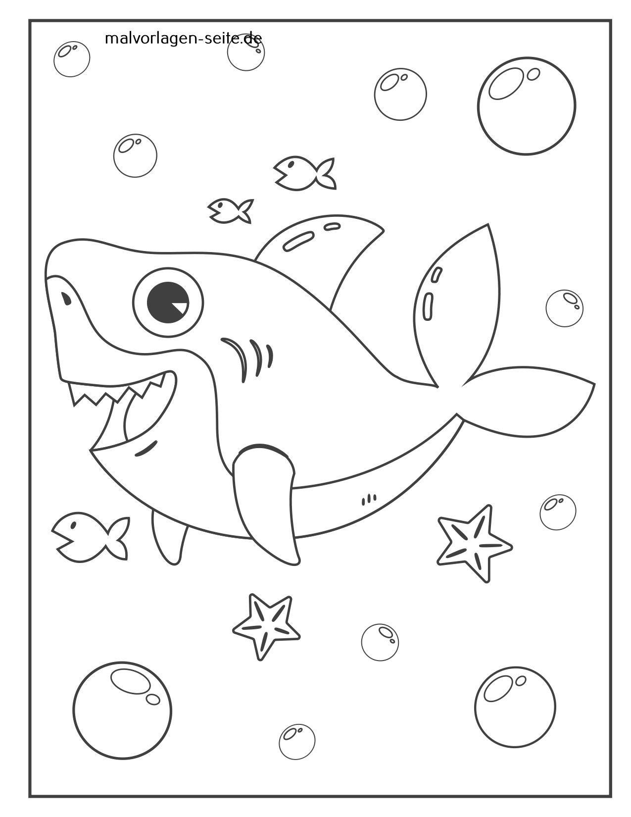 Mewarnai hiu halaman