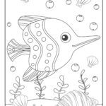 Coloring page fish | Animals in the water