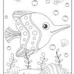 Dibujo para colorear pescado | Animales en el agua