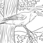 Coloring page oriole