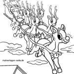 Bojanke saonice sobova s Djedom Mrazom