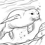 Pečat stranice bojanja | Životinje u vodi