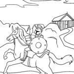 Malvorlage römischer Soldat auf Pferd