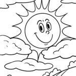 Dibujo para colorear sol