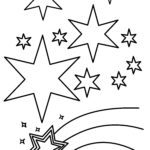 Coloring page starry sky
