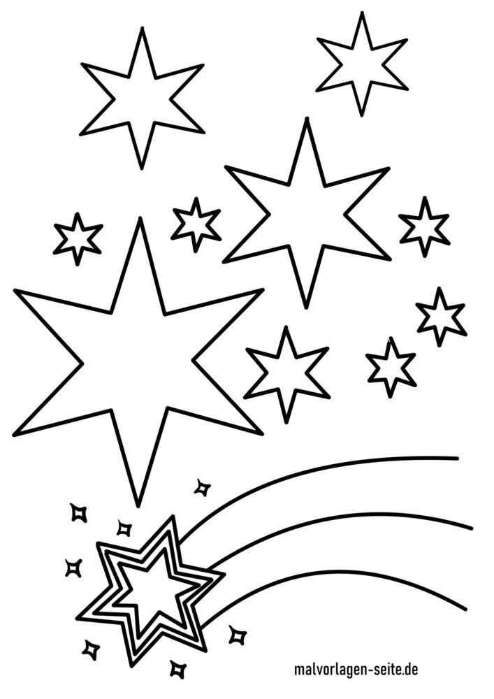 Tegninger til farvelægning stjernehimmel