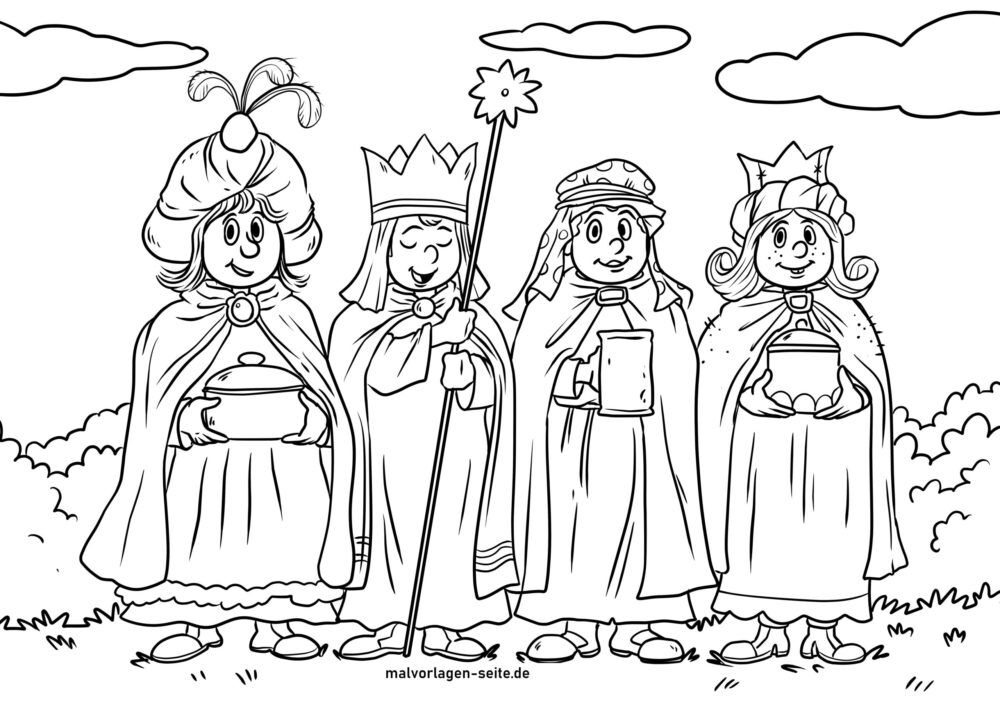 Coloring Page Carol Singers Children S Religion Free Coloring Pages