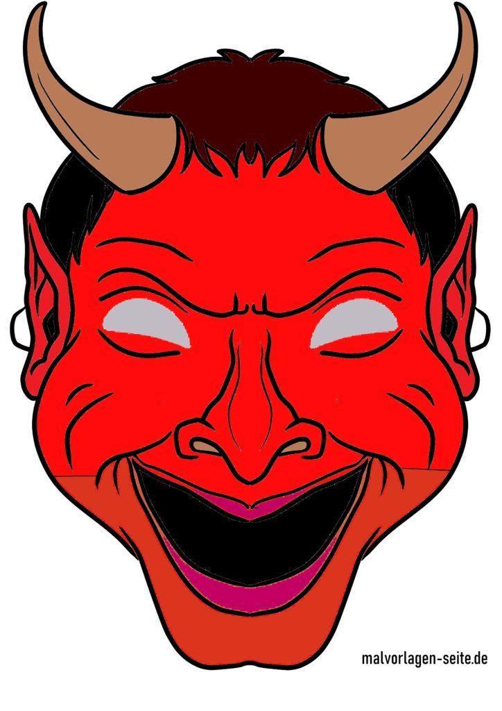 Masque de diable coloré