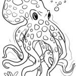 Bojanje stranice lignje | Životinje u vodi