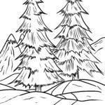 Өвлийн ойг будах хуудас