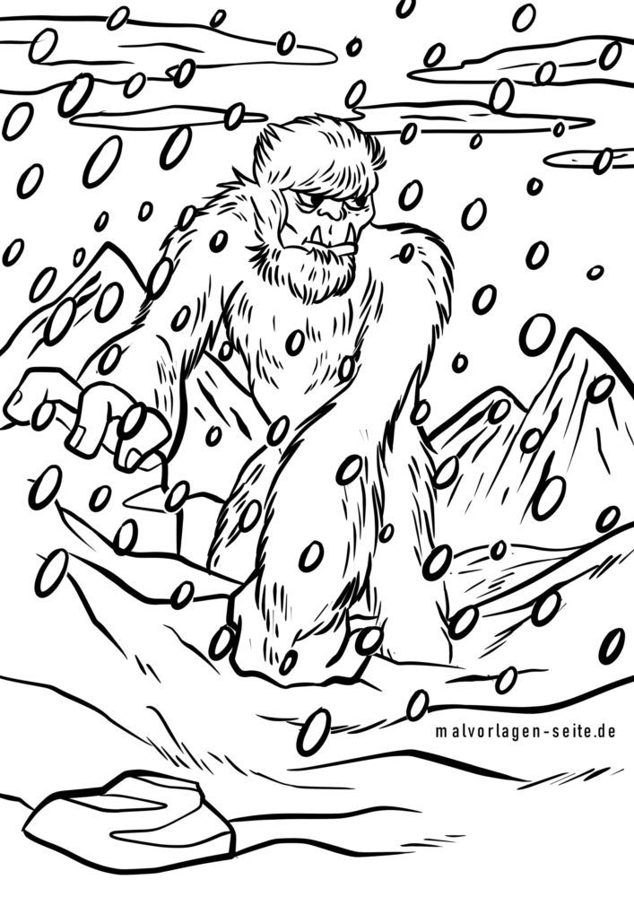 Coloring page Yeti