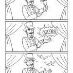 magician ຫນ້າສີທີ່ມີ trick magic