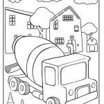 Sement qarışdırıcı - inşaat sahəsindəki nəqliyyat vasitələri boyayıcı kitab
