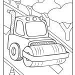 Coloriage bulldozer de chantier