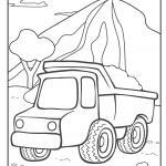 Coloring page dump truck - truck