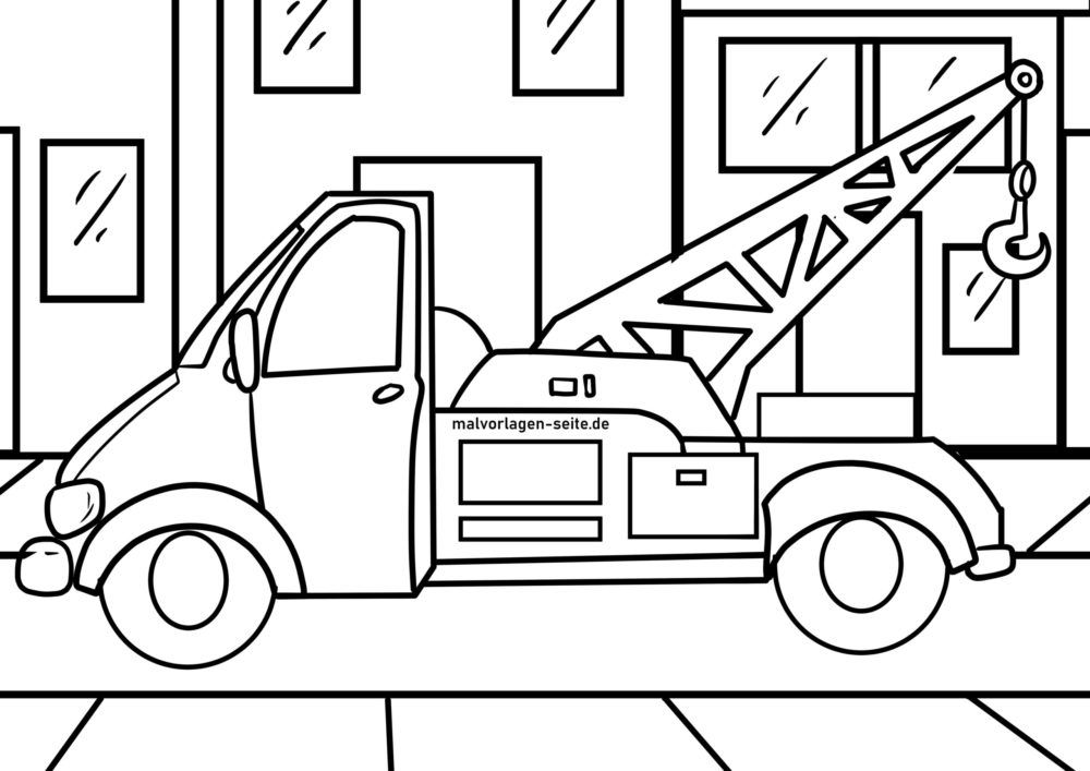 Coloring page tow truck