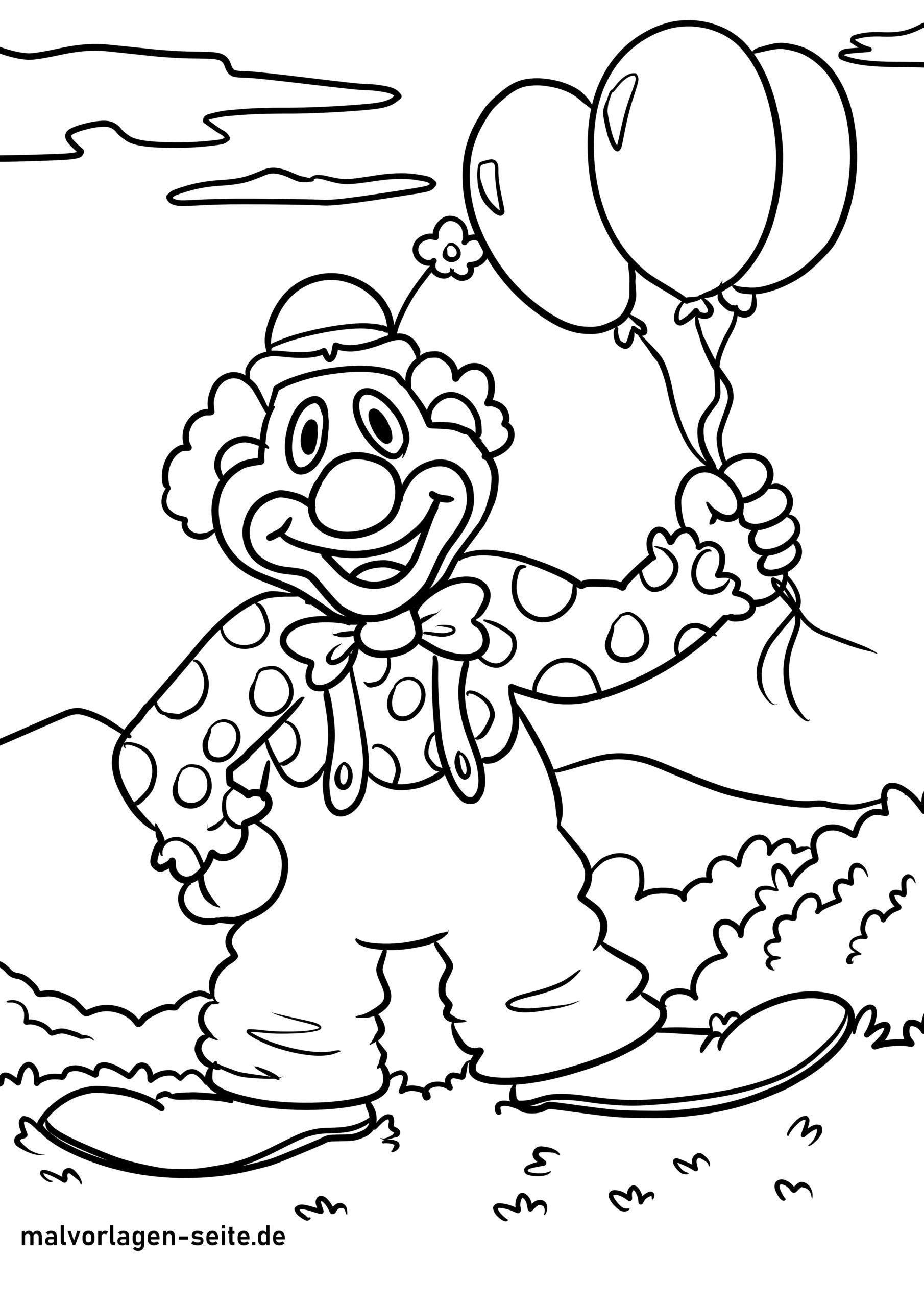 Tolle Malvorlage Clown - Kostenlose Ausmalbilder