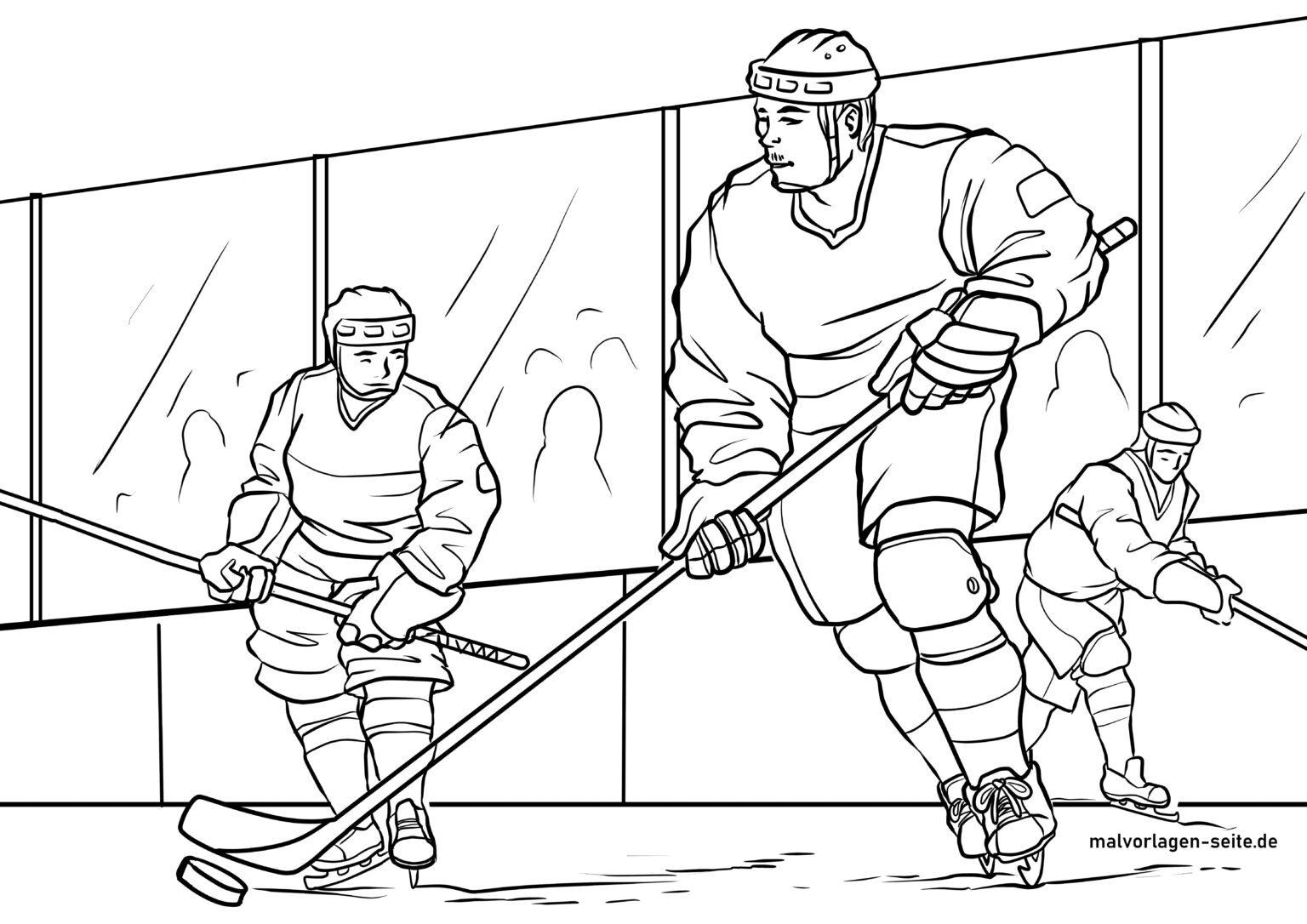 malvorlage eishockey  wintersport  kostenlose ausmalbilder